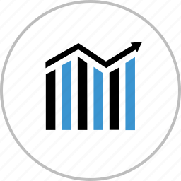 analytics, arrow, chat, data, graph, report icon
