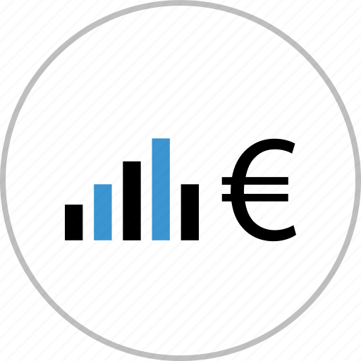 chart, data, euro, graph, report, sign icon