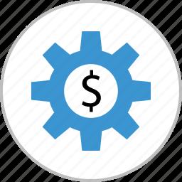 dollar, money, sign, work, working icon
