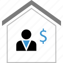 buyer, dollar, equity, home, money icon