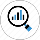 bars, business, chart, data, find, look icon
