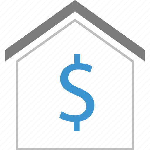 dollar, home, money, sign icon