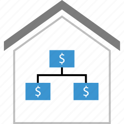 equity, home, money, strategy icon