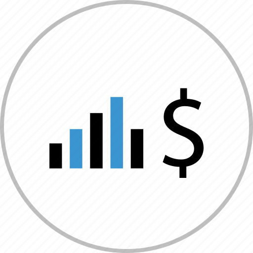 Data, dollar, graph, money, sign icon - Download on Iconfinder
