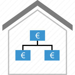 home, house, money, strategy icon
