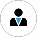 boss, businessman, profile, staff, user icon