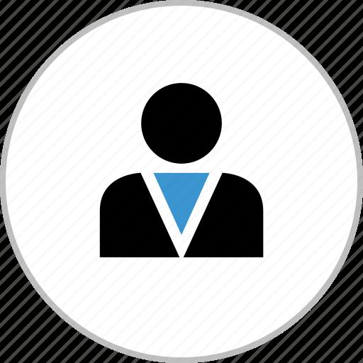 boss, businessman, profile, staff, user icon