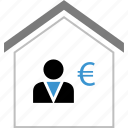 boss, equity, money, profile, user icon