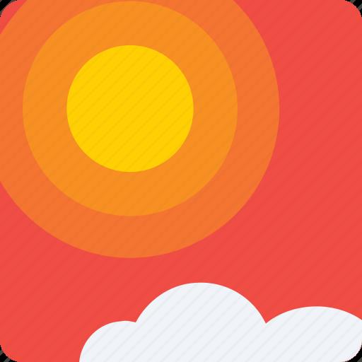 app, application, climate, heat, mobile, rain, sunrise, weather icon icon