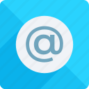 address, app, at the rate, contact, email, mail, rate icon icon