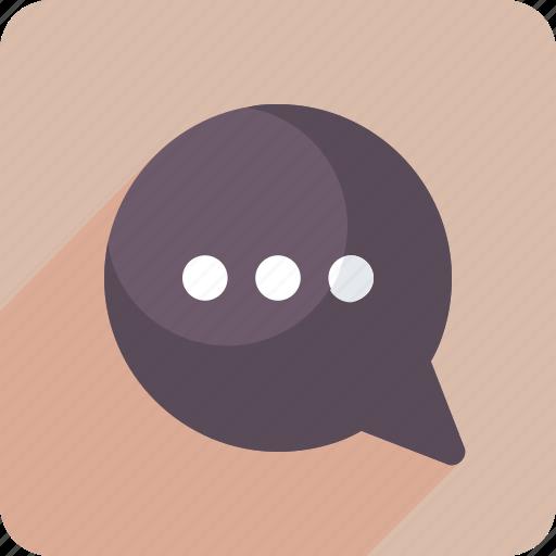 chat, chat bubble, comment, talk icon icon
