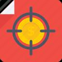 bullet target, focus, pistol target, revolver target, target icon icon