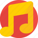 eighth note, melody, music, music note, quaver icon icon
