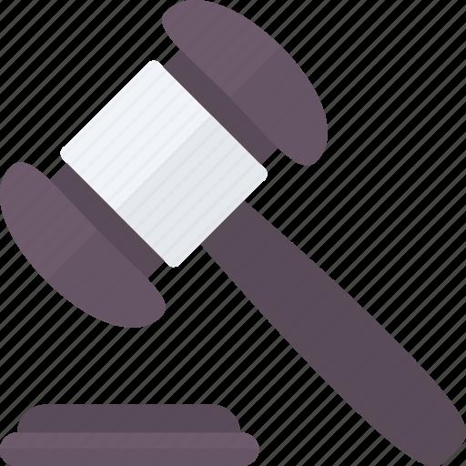 auction, bidding, gavel, law, mallet icon icon