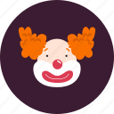 circus, clown, joke, laugh icon