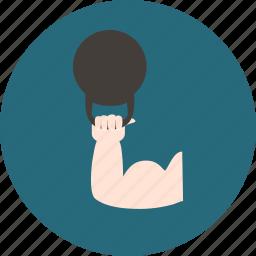 athlete, circus, entertainment, focus icon
