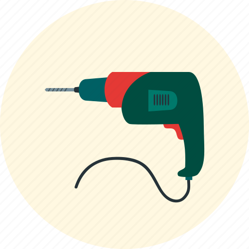 drill, renovated apartment, screwdriver, tool icon