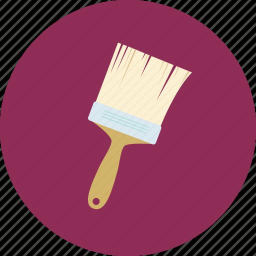 brush, renovated apartment, repaint, tool icon