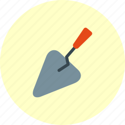 building, cement, equipment, tools, trowel icon
