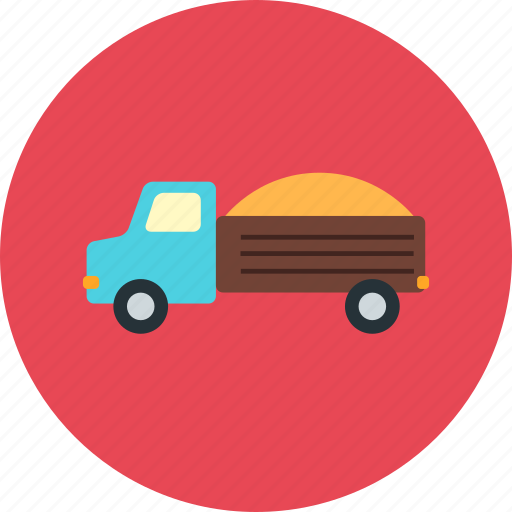 building, construction, delivery, machine, sand, transport, transportation icon