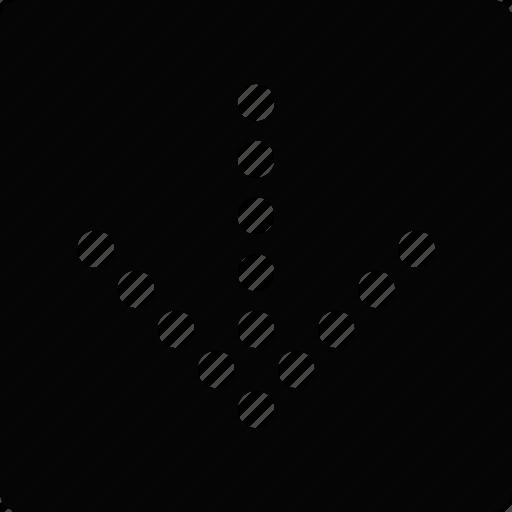 arrow, down, square icon