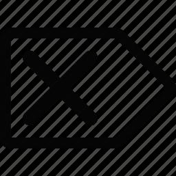 arrow, cross, right icon