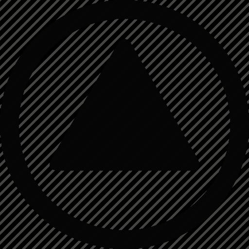 arrow, circle, up icon