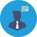 1, avatar, business, chatting, communication, man, thinking icon