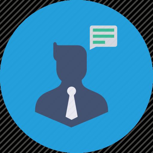 1, avatar, business, chatting, communication, man, thinking icon