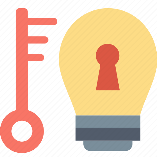 Key, success, advice, bulb, keyhole, knowledge, solution icon - Download on Iconfinder
