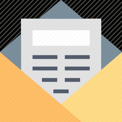 Newsletter, communication, conversation, envelope, letter, mail, message icon - Download on Iconfinder