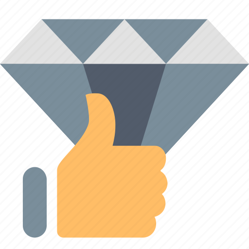 best, diamond, excellence, like, premium, quality, thumb up icon