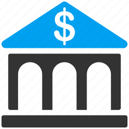 asset, bank building, banking, financial center, investment, office icon