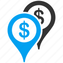 bank places, flag, globe, gps, map marker, pin, travel icon