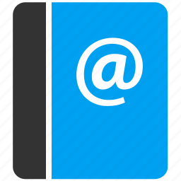 address book, contact list, contacts, email, emails, mail, notebook icon