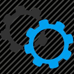 gear, gears, industry, machine, settings, tools, work icon