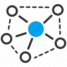 atom, connection, graph, link, molecule, science, structure icon