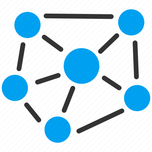 atom, connection, graph, link, science, social graph, structure icon
