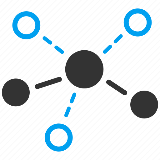 atom, connection, graph, link, network, science, structure icon
