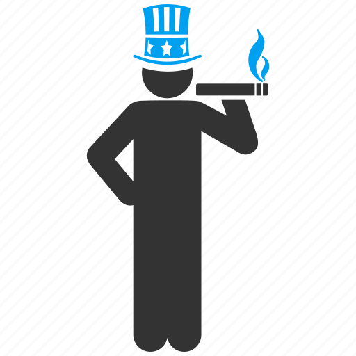 capitalist, lord, monopoly, owner, smoke, smoking, uncle sam icon