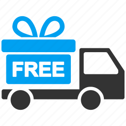 delivery, free, gift, offer, present, prize, transport icon