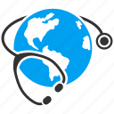 global, globe, health, healthcare, hospital, international, medicine icon