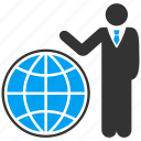 earth, global business, globe, international job, map, web, world icon