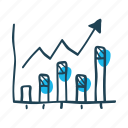 analyze, chart, data, economy, graph, growth, increase, revenue, statistics icon