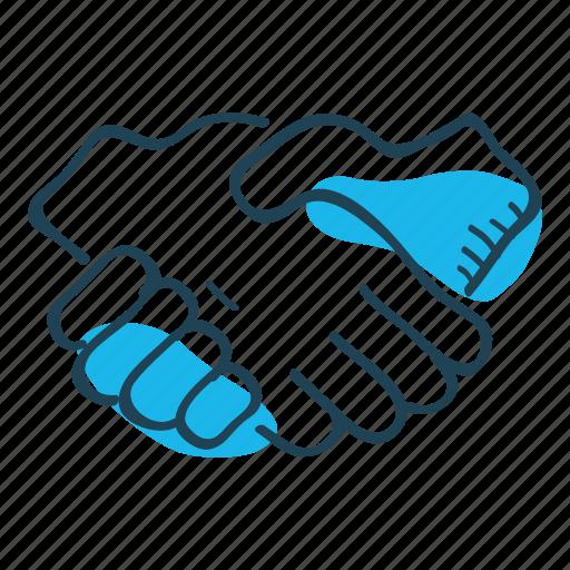 agreement, deal, hand, hand shake, partner, union icon