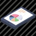 analytics, online business, online statistics, online visualization, pie chart icon