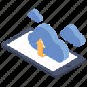 cloud computing, cloud hosting, upload data, uploading, cloud uploading icon