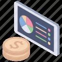 analytics, online business, online statistic, online visualization, pie chart icon