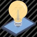 light bulb marketing, innovation, marketing idea, marketing strategy, creative marketing icon