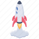 business launch symbol, missile, rocket launch, space rocket, startup symbol